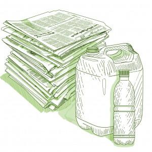 Вывоз макулатуры, картона и пластика